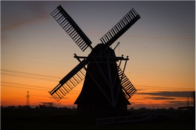 Picture Of Rural Windmill
