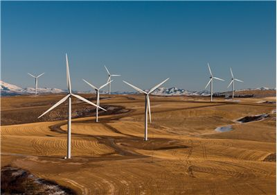 Picture Of Wind Farm Windmills Turbines