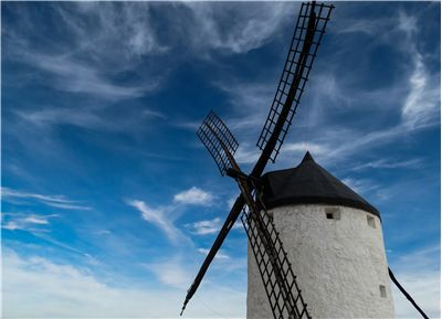 Picture Of Windmill And Sky