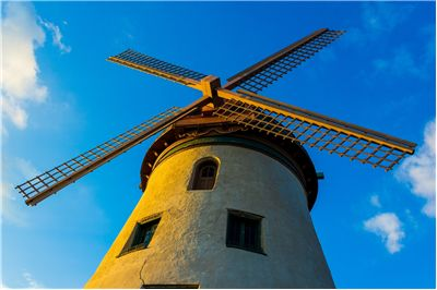 Picture Of Windmill Clouds Sky