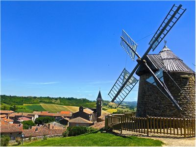Picture Of Windmill Rural Village