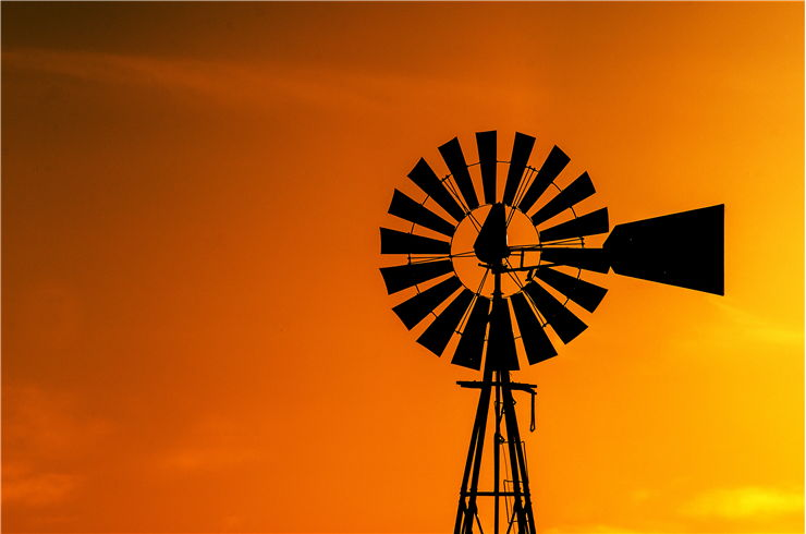 Picture Of Windmill Silhouette