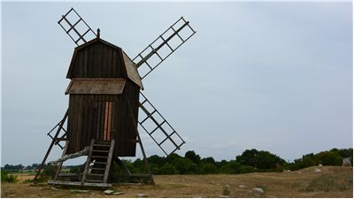 Picture Of Windmill Sweden