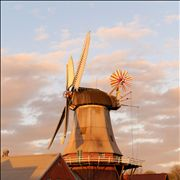 Picture Of Windmill Water Sky